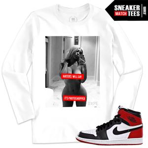 Jordan 1 Black Toe Match T shirt