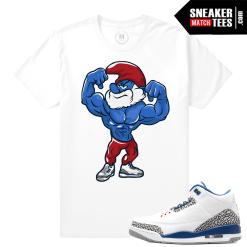 Jordan 3 True Blue Matching Sneaker T Shirt