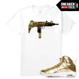 Jordan 6 Pinnacle Gold Matching T shirt