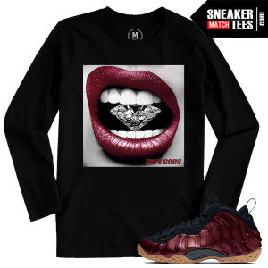Maroon Foams Black Long Sleeve tshirt Match