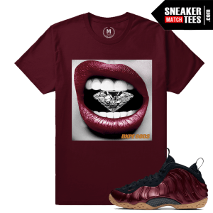 Maroon Foams T shirt match Nike Foams