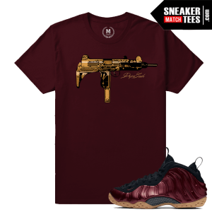 Maroon Foams Matching Sneaker Tees shirt