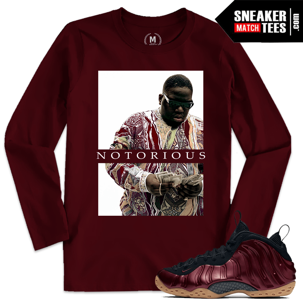 quality design abe5a 7d079 Night Maroon Foamposite T shirt Match