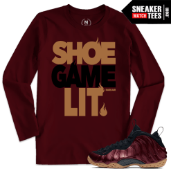 Night Maroon Foams T shirts
