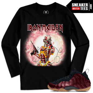 Shirt Match Night Maroon Foams Iron Maiden