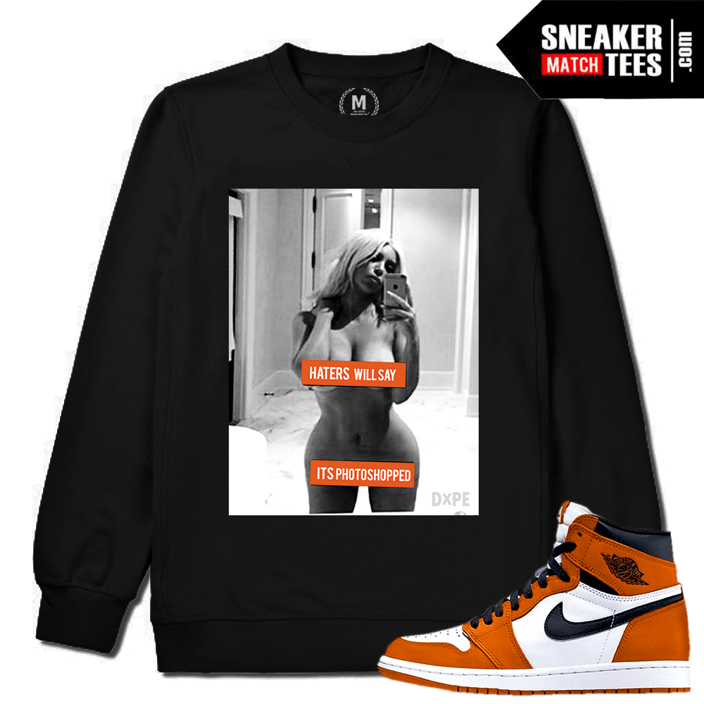 Sneaker Match Tees Black Crewneck Shattered Backboard 1 Reverse