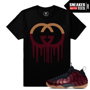 Sneaker Shirts Maroon Foamposite Tees