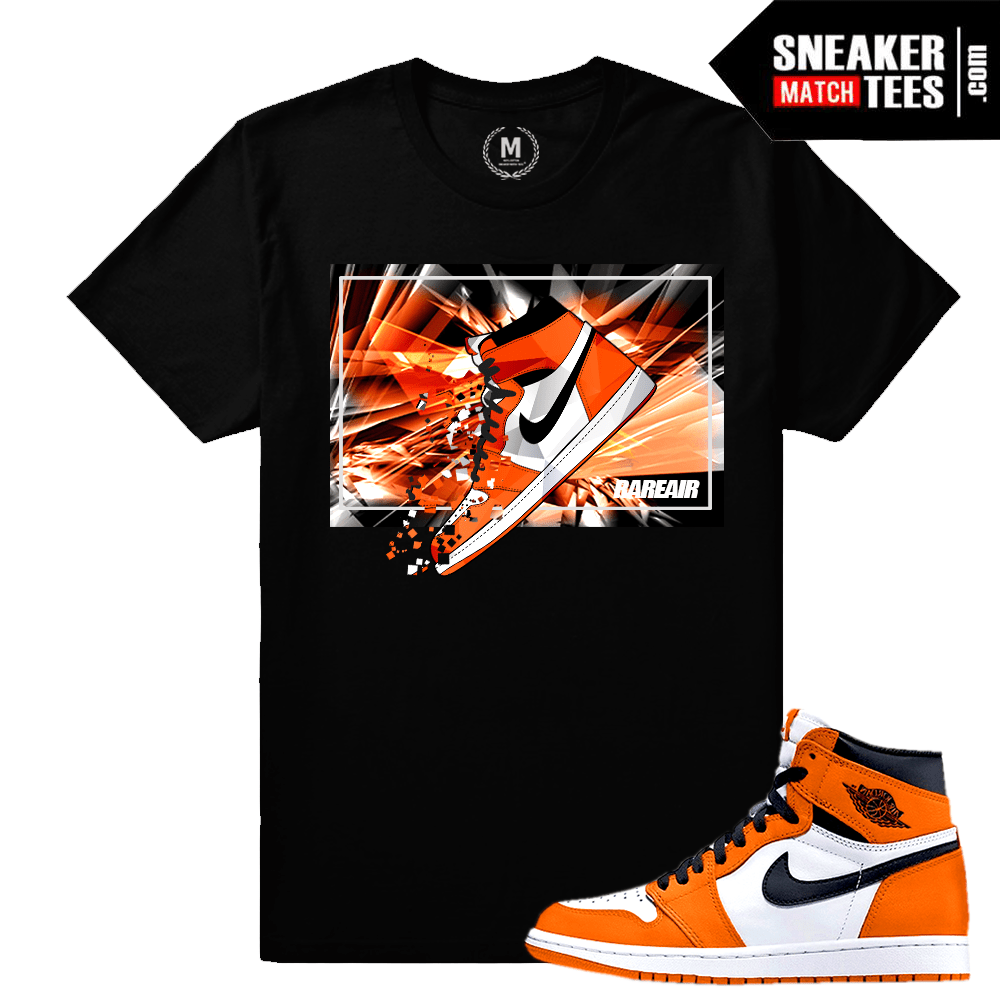 Sneaker tee Match Jordan 1 shattered backboard