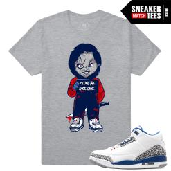Sneaker Tees Match True Blue 3s Jordans