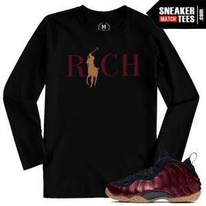 Sneaker Tees Shirts Match Maroon Foams