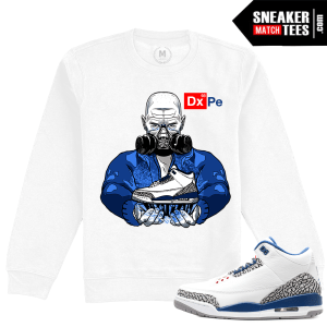 Air Jordan 3 True Blue Clothing Sweatshirt