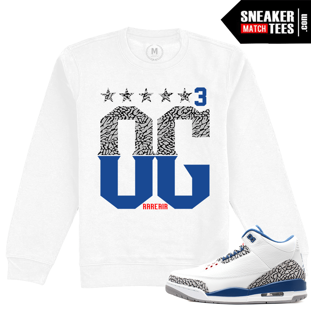 buy popular 67a3f aefc9 Air Jordan 3 True Blue Clothing   Sneaker Match Tees