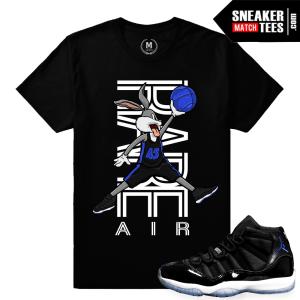 Jordan 11 Space Jam t shirts