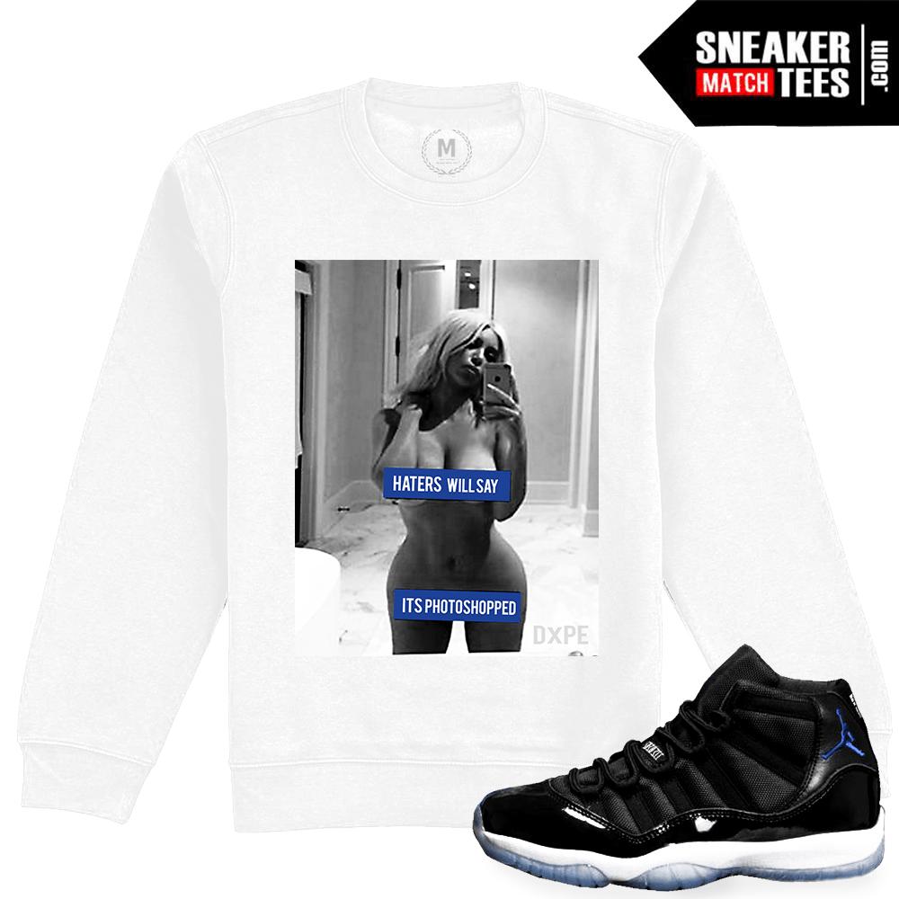 d1e99f04e24 Jordan 11 Space Jam Crewneck Matching   Sneaker Match Tees