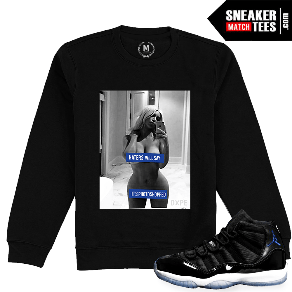 f11c8ff425fe36 Jordan 11 Space Jam Retro Crewneck Match