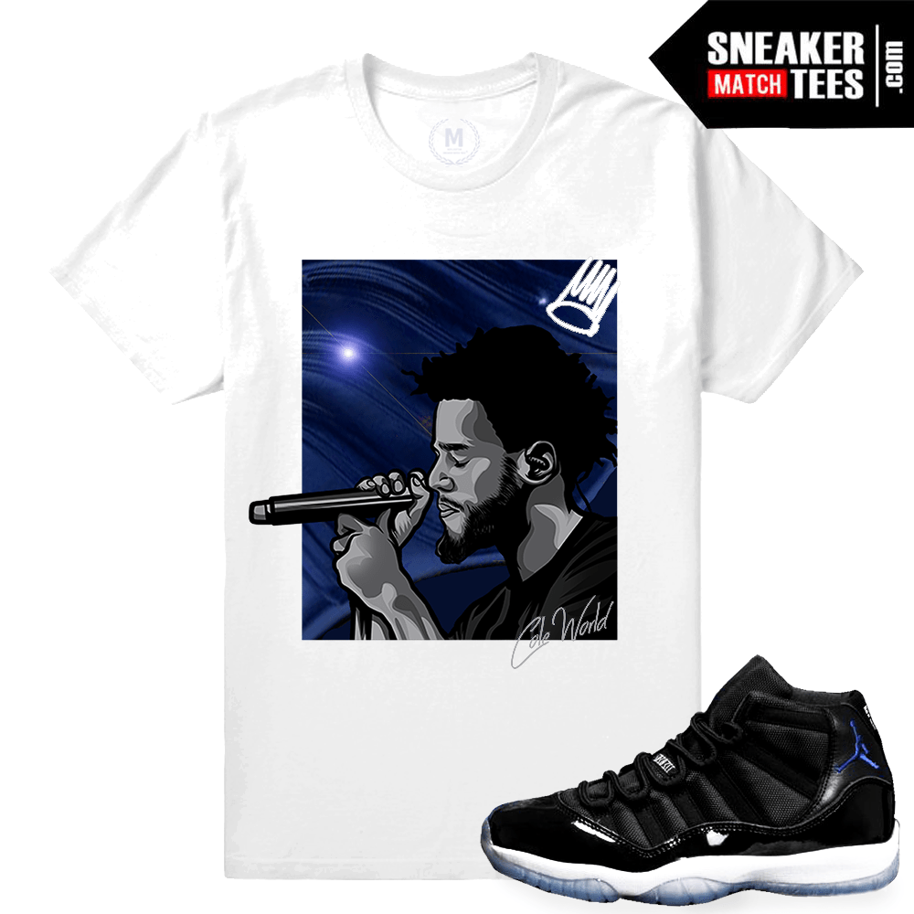 4b051a81ee4528 Jordan 11 Space Jam T shirt Matching