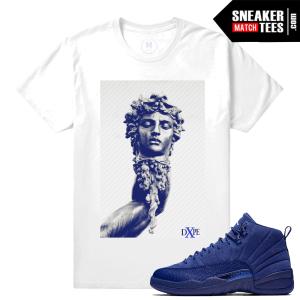 Jordan 12 Blue Suede Matching Shirts