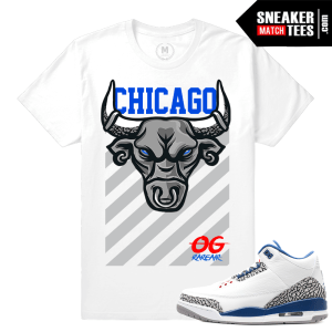 Jordan 3 Retro True Blue Sneaker Tees