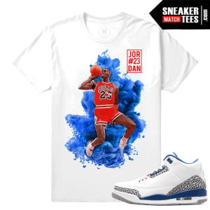 Jordan 3s True Blue Match T shirt