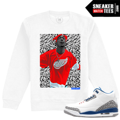 Jordan 3 True Blue Matching Sneaker Tees