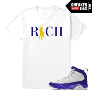 Jordan 9 Kobe Sneaker Match Shirts