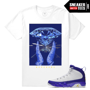 Jordan 9 Tour Yellow Match Sneaker Tee Kobe