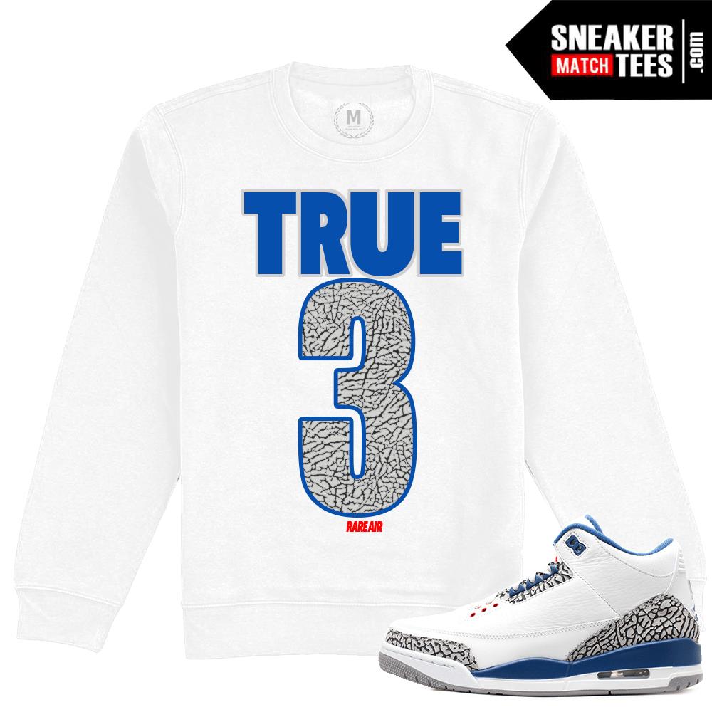 huge discount 0c088 1e77c Jordan Retro True Blue 3 Crewneck