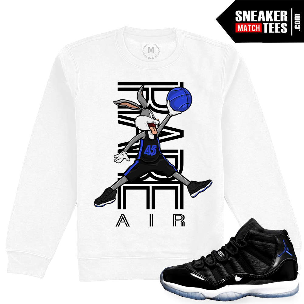 9c6da863248c Space Jam 11 Match Sneaker Tee Shirts - Jordan Retro 11 Clothing Shop