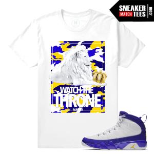 Matching Jordan 9 Kobe Sneakers T shirts