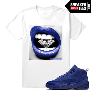 Matching Shirt Blue Suede 12s