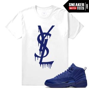 Shirt Match Jordan 12 Blue Suede Tees