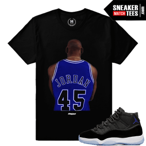 Shirt Matching Space Jam 11 Sneakers