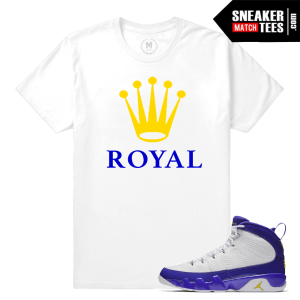 Sneaker Tees Matching Jordan 9 Tour Yellow Kobe