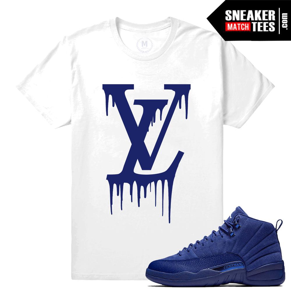90b903920d1999 Sneaker Tees Match Jordan 12 Blue Suede Retro