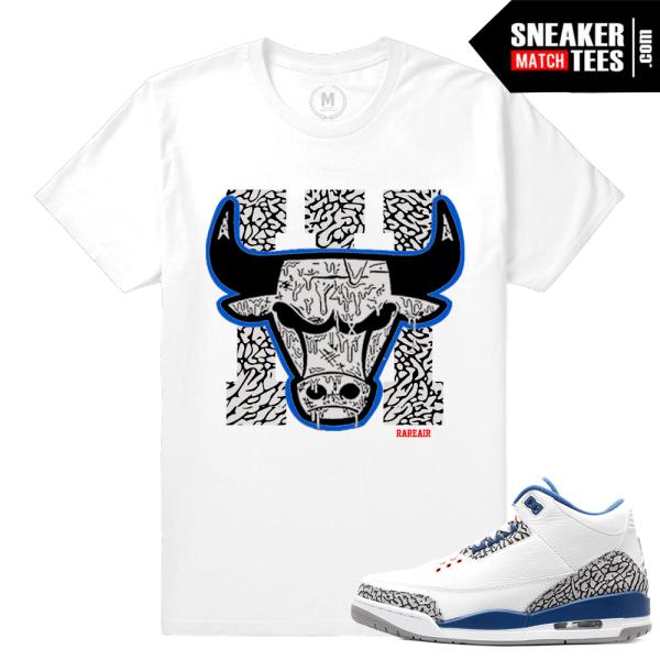 Sneaker Tees True Blue 3 Jordan Sneaker Match Tees