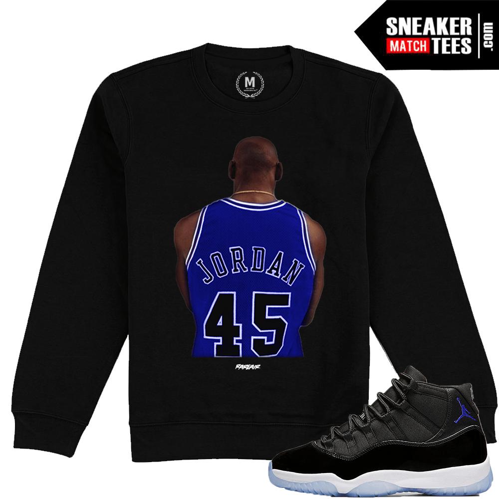 a74b48d4874 Space Jam 11 Jordan Crewneck Sweatshirt Match | Sneaker Match Tees
