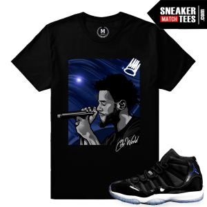 Space Jam 11 Match Jordan T shirt