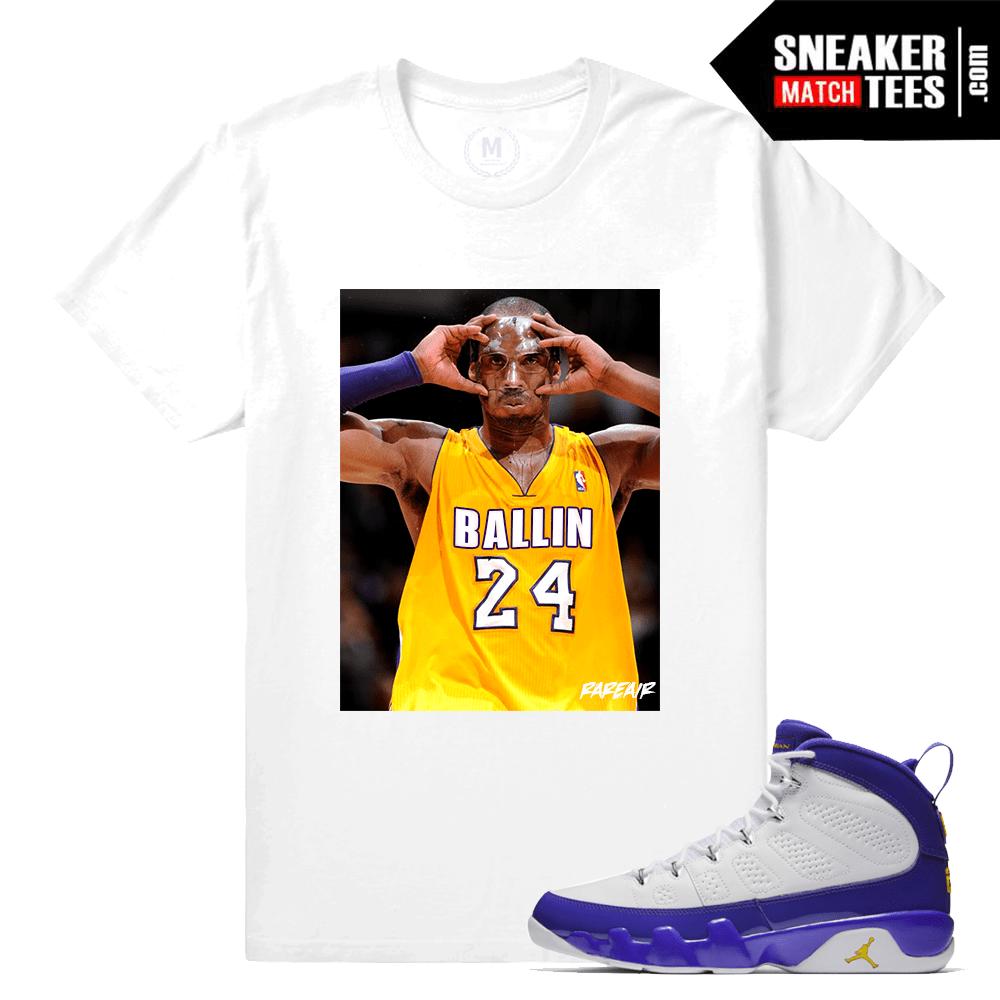 11a45a0ed99 T shirt Match Jordan 9 Kobe Retro Jordans