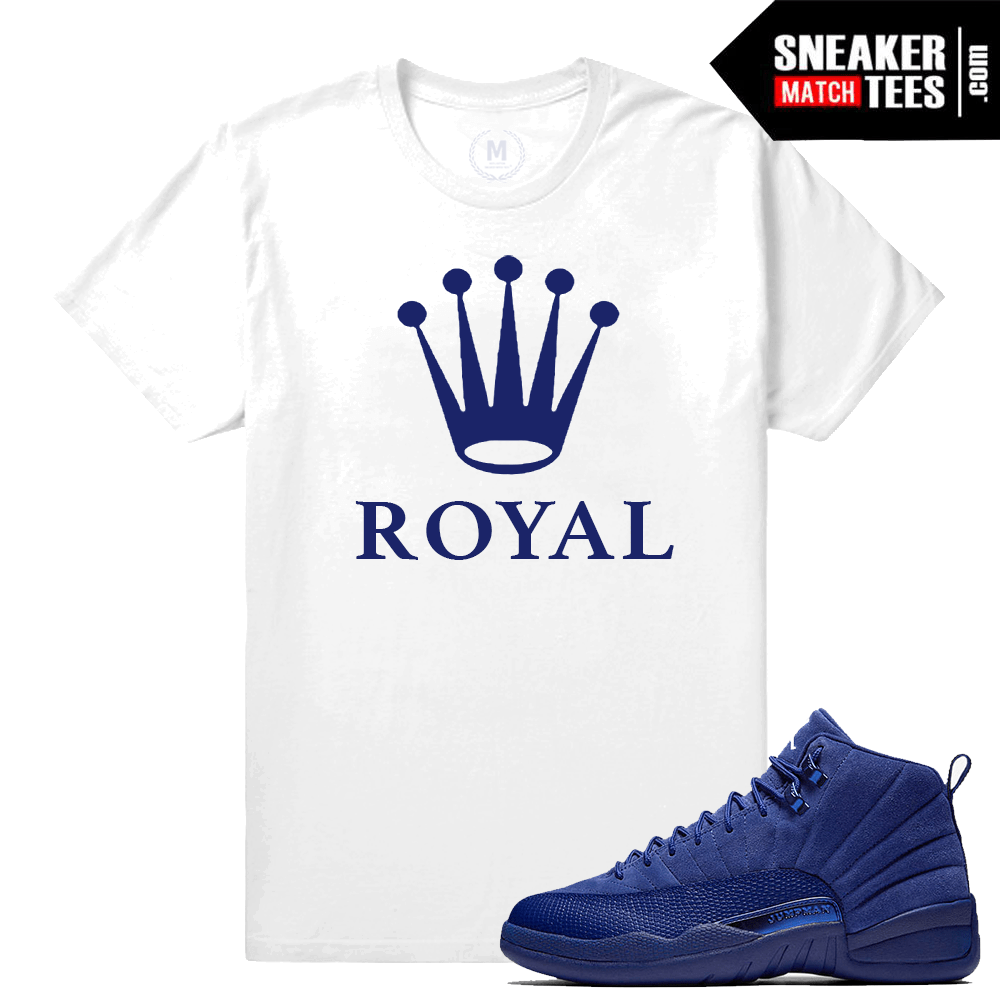 T shirt Matching Blue Suede 12s