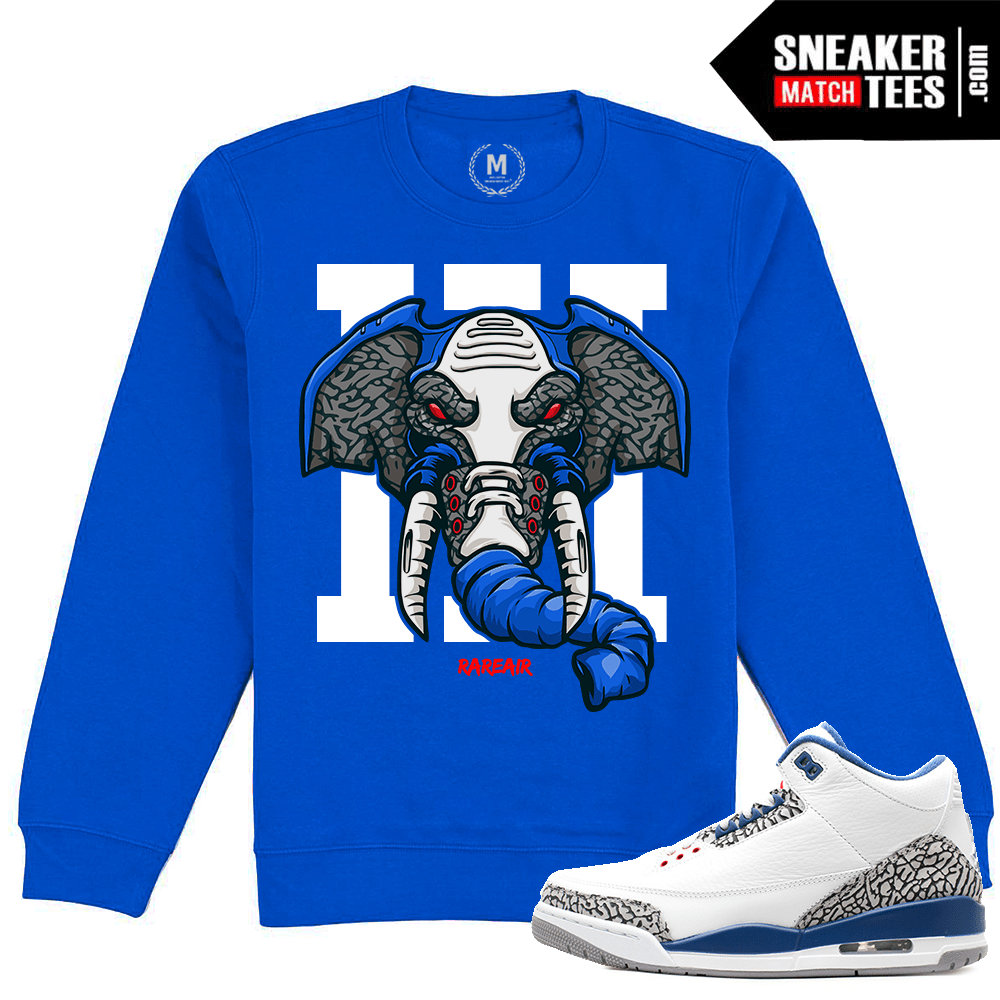 sale retailer f1873 44fac True Blue 3s Crewneck Sweatshirt