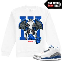 True Blue 3s Matching Sweatshirt