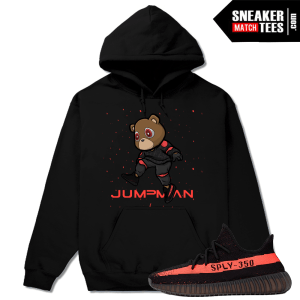 Yeezy Bear Hoodie Matching yeezy boost 350 Black Red
