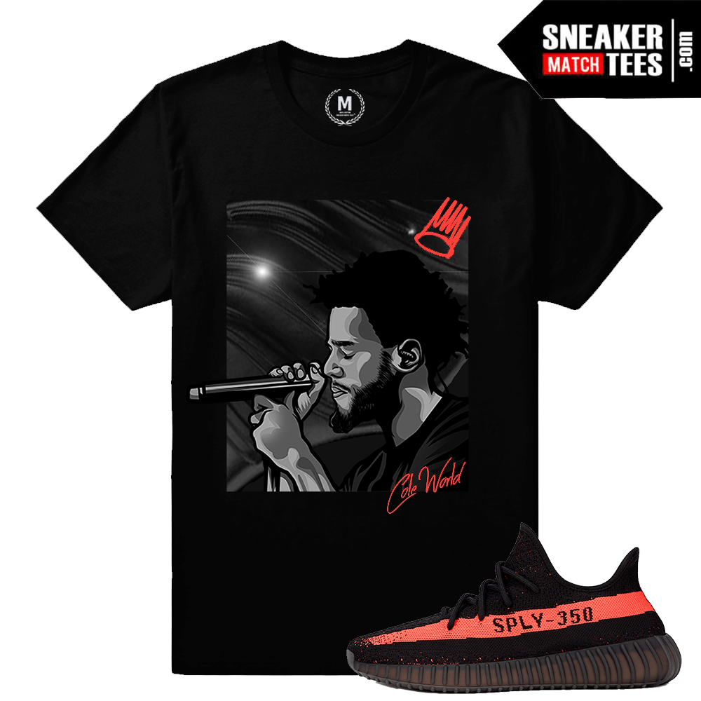 a183318e2 Yeezy Boost 350 black Red Matching Tee Shirt