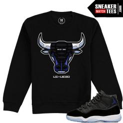 Jordan 11 Space Jam Sweatshirt Crew neck