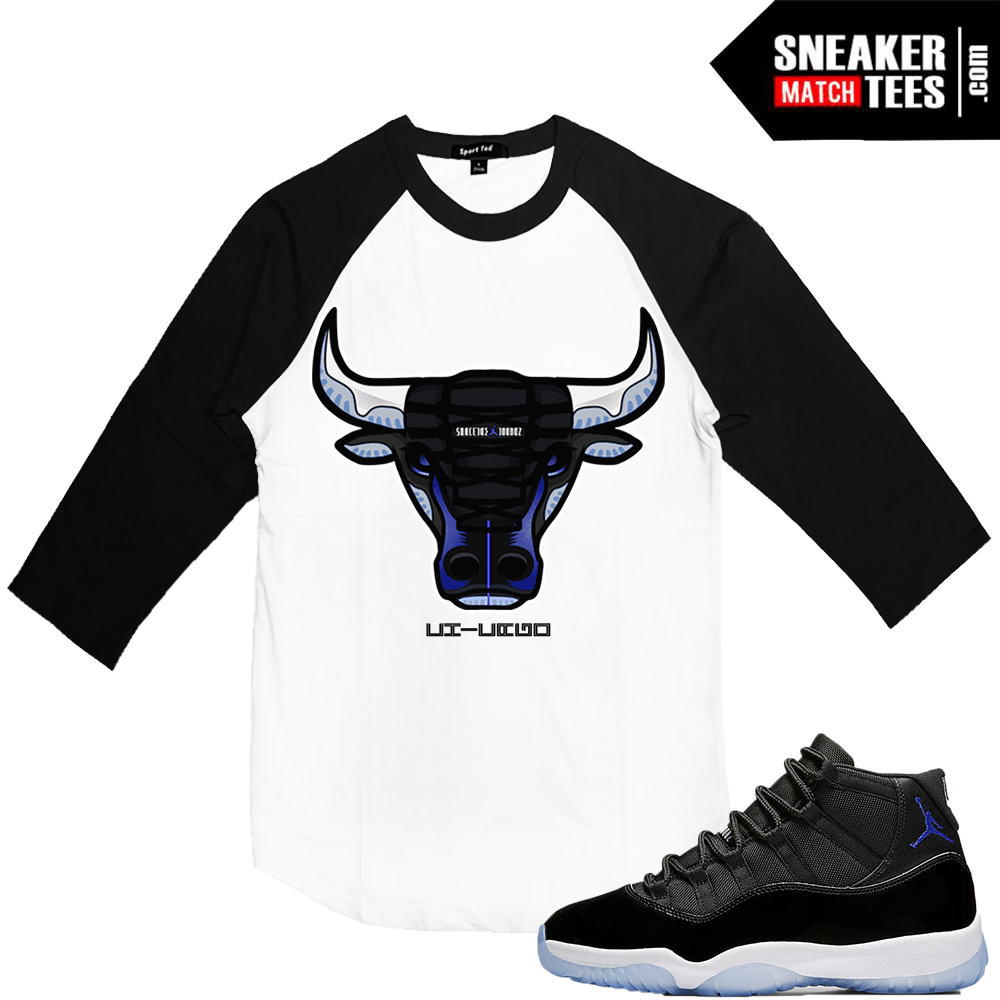 75e153503a02df Jordan 11 Space Jam Matching Raglan Shirt