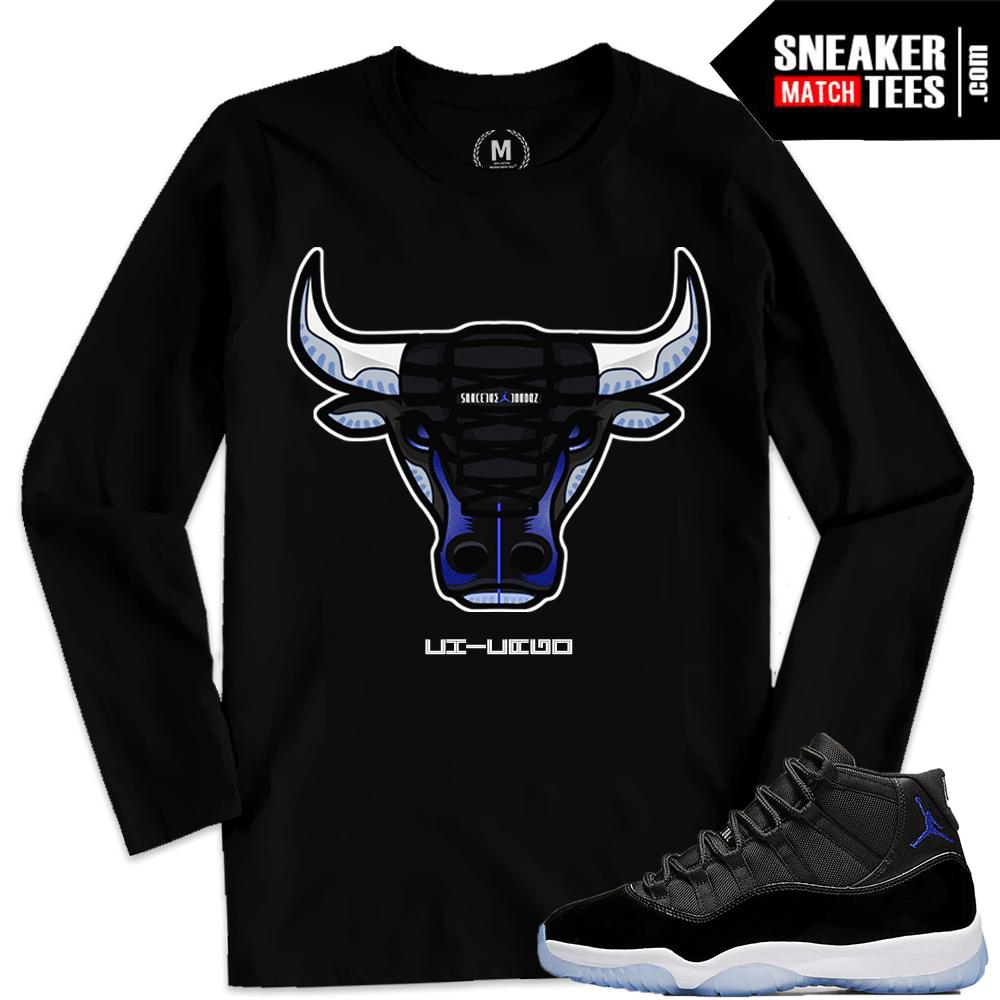 4a6ad35a8996 Jordan 11 Space Jams Shirts