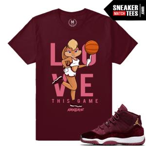 Jordan 11 Velvet GS matching t shirts