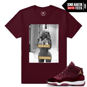 Jordan 11 Velvet Maroon T shirt Match
