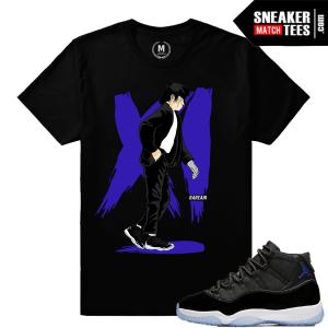 Jordan 11 Space Jams Matching T shirts sneaker tees