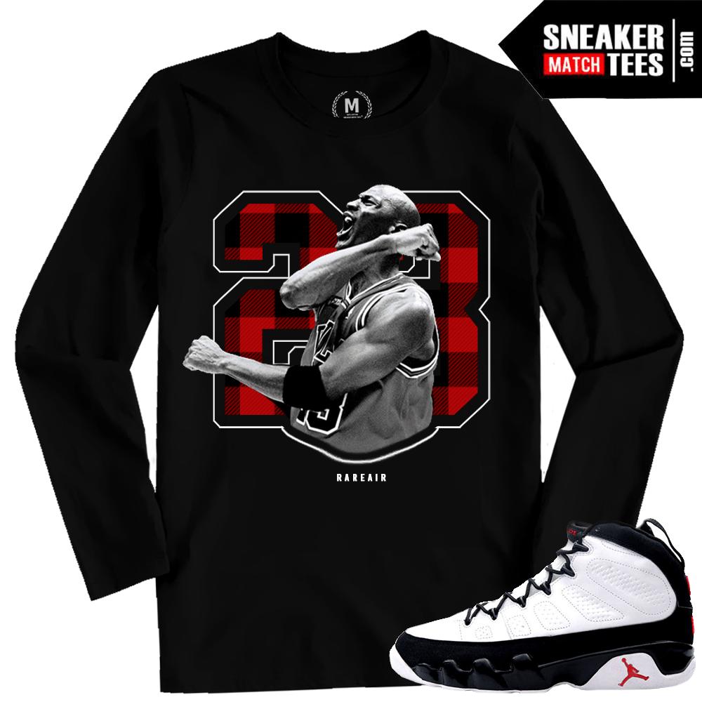 5e7a39c82d0 Jordan 9 OG Matching Long Sleeve T shirt | Sneaker Match Tees